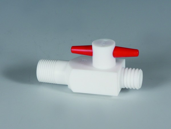 BOLA Screw In Stopcocks, 2-Way, PTFE