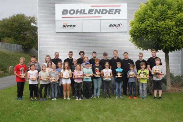Grünsfelder Ferienprogramm zu Gast bei Bohlender